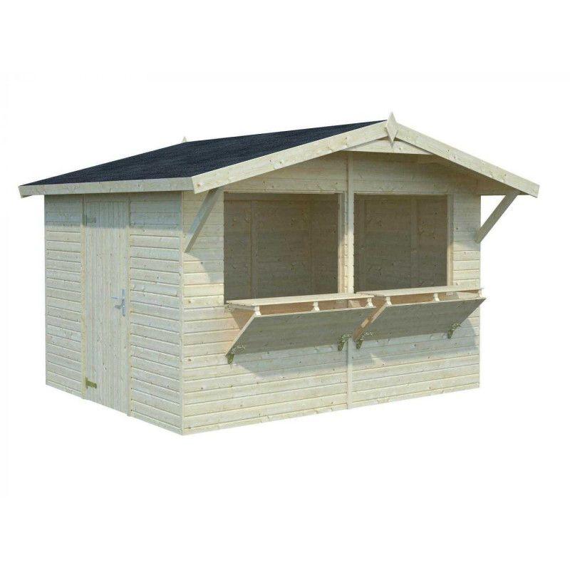 Kiosco de madera 16mm, 323x259 cm, 8,2 m²
