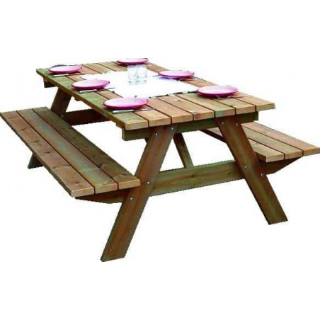 Mesa de madera para jardin. Picnic
