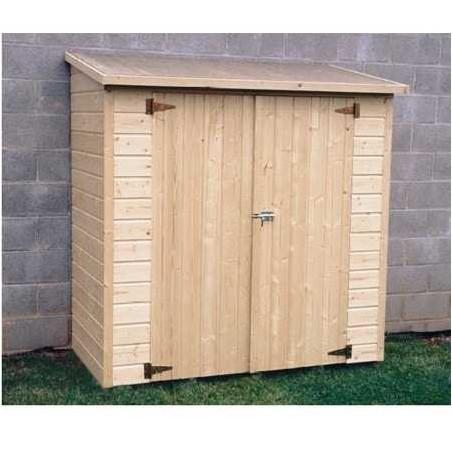 Armario de madera para jardin. Adosado. Albecour
