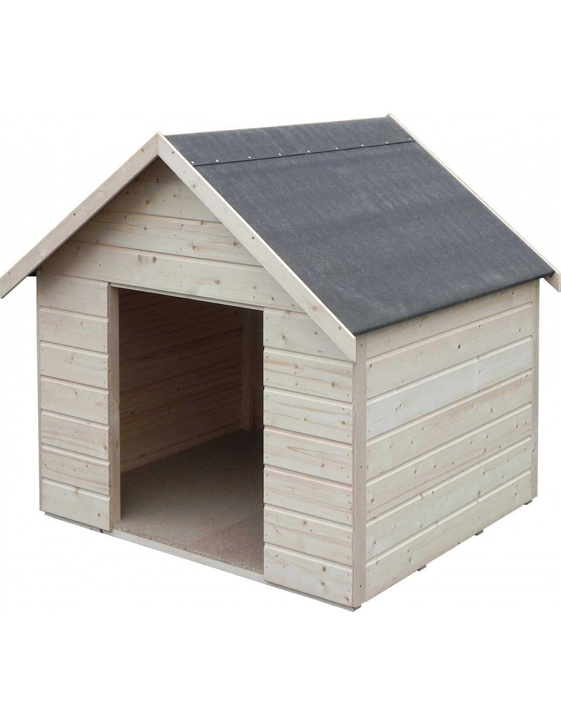Caseta perro madera niche xl for Casetas para jardin carrefour