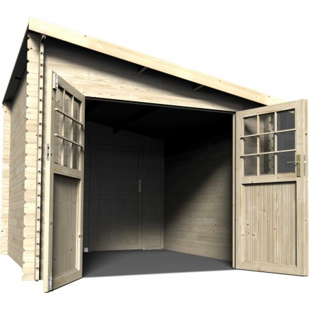 Caseta de madera Esprit. Caseta techo a un agua