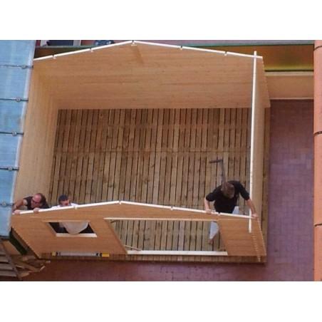 Caseta de madera Manil detalle interior caseta