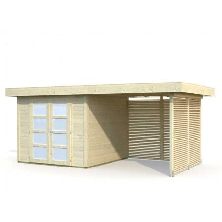 kit de paneles de madera para caseta Lara