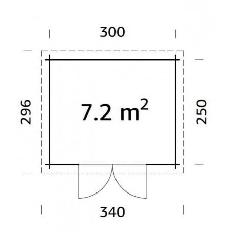 Mary, 28mm, 320 x 270 cm, 7.2m²