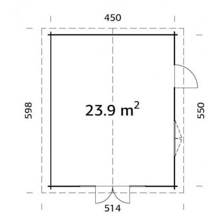 Irene, 44 mm, 470 x 570 cm, 26.8 m²