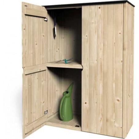 Armario de madera exterior Etesio. 15 mm, 1.20x0.5m. 0.68m²