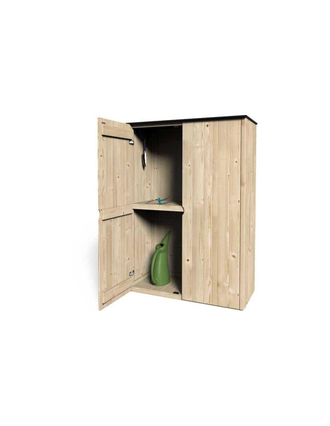 Armarios de madera exterior prefabricados modelo etesio for Armario jardin madera