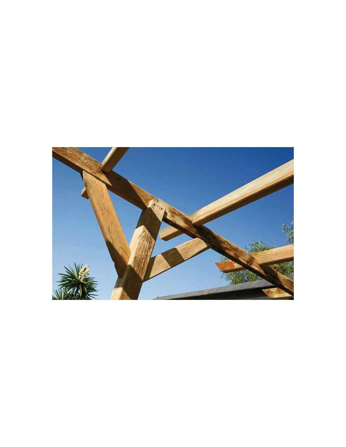P rgola de madera 14 4 m - Postes de madera para pergolas ...