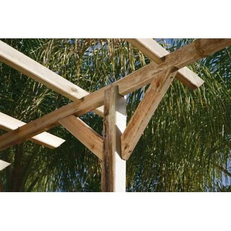 Pérgola madera 400x360 cm. Postes 9x9cm