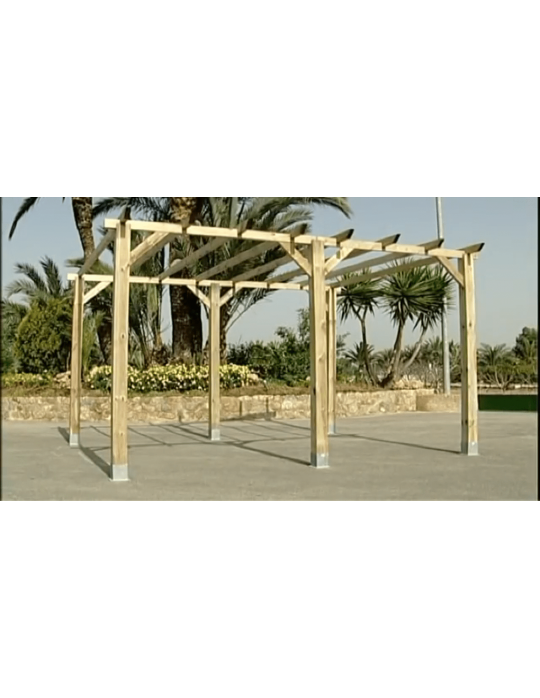 P rgola de madera 14 4 m postes 12 cm - Accesorios para pergolas ...