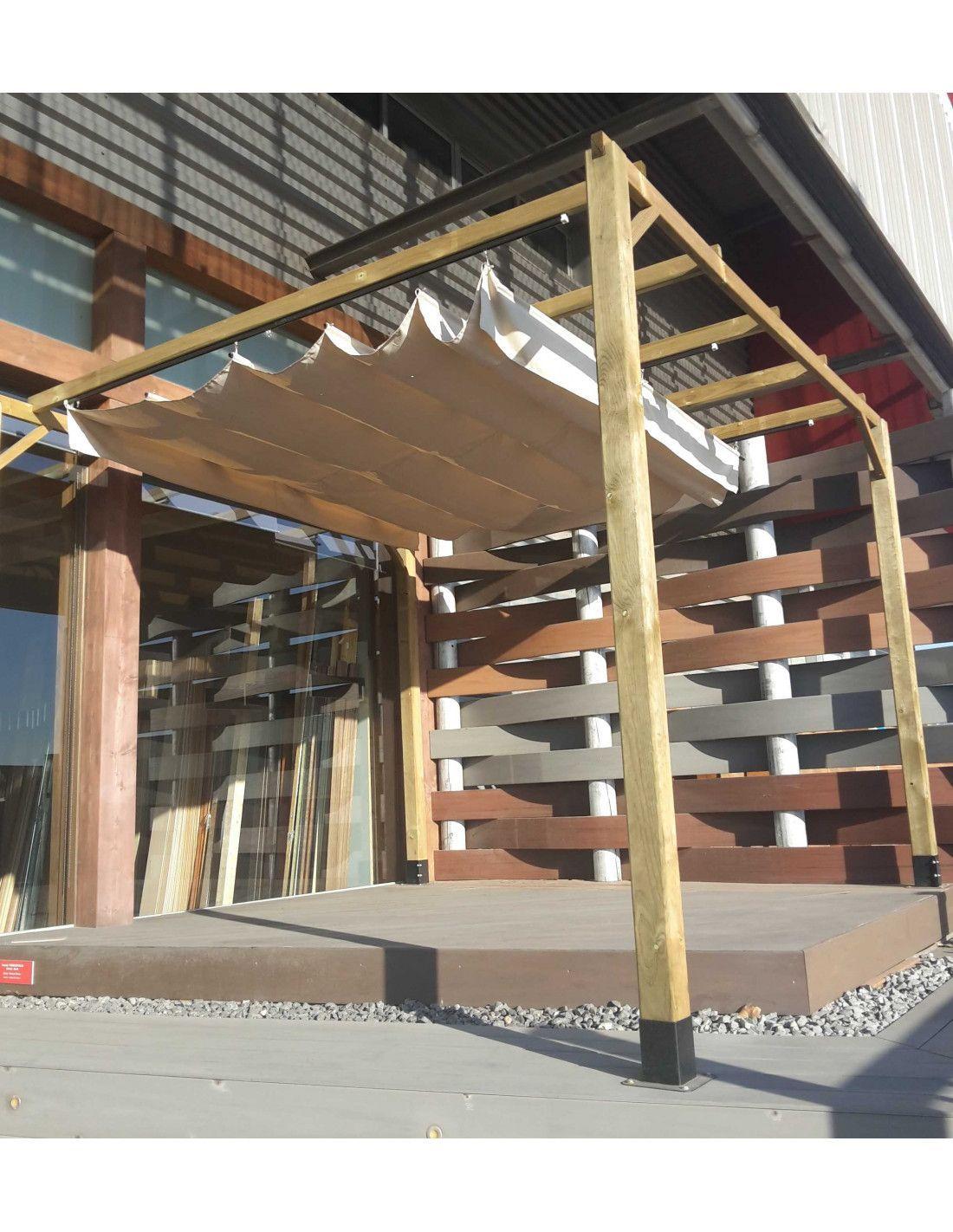 Pergola de madera 4x3 m - Postes para pergolas ...