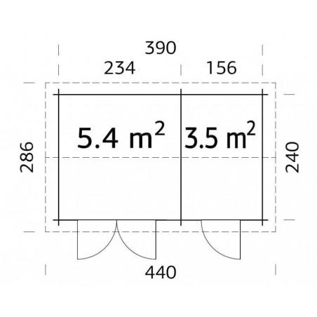 Jari 1. 28 mm, 390 x 240 cm, 8.9 m²