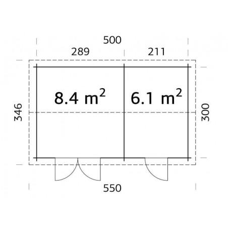 Jari 2. 28 mm, 500 x 3000 cm, 14.5 m²