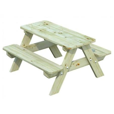 Mesa picnic infantil 90 x 80 x 50 cm / Autoclave verde