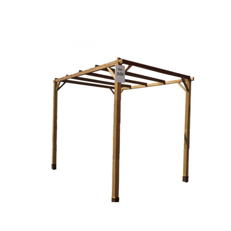 Pergola de madera 3x3 m - Accesorios para pergolas ...