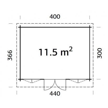 Lisa, 34 mm, 420 x 320 cm. 13,44m²