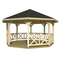 Cenador pérgola Betty, 18 m²