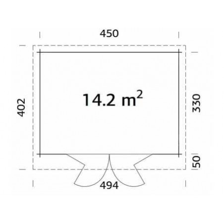 Lea, 44 mm, 450 x 330 cm. 14.2m²