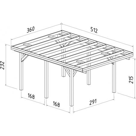 Comprar Pérgola de madera Palmako Karl