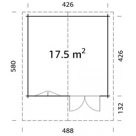 Britta, 40 mm, 446 x 446 cm. 19.89 m²