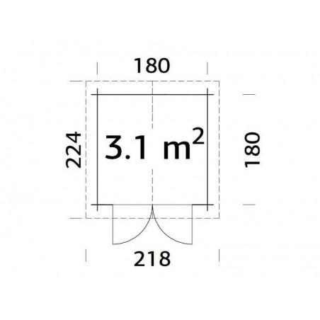 Plano Caseta Finnland 19 mm, 192 x 192 cm, 3.68 m²