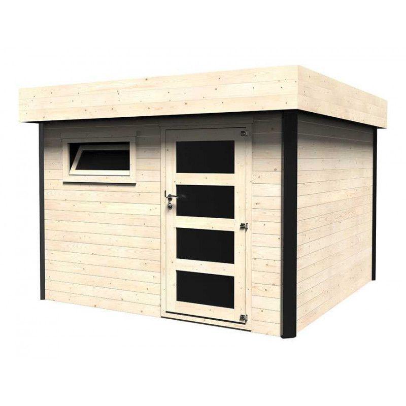 Comprar caseta de madera techo plano 3x3m2