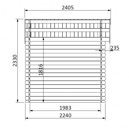 Ostro Tratada. 28 mm, 300x225cm. 6,68m²