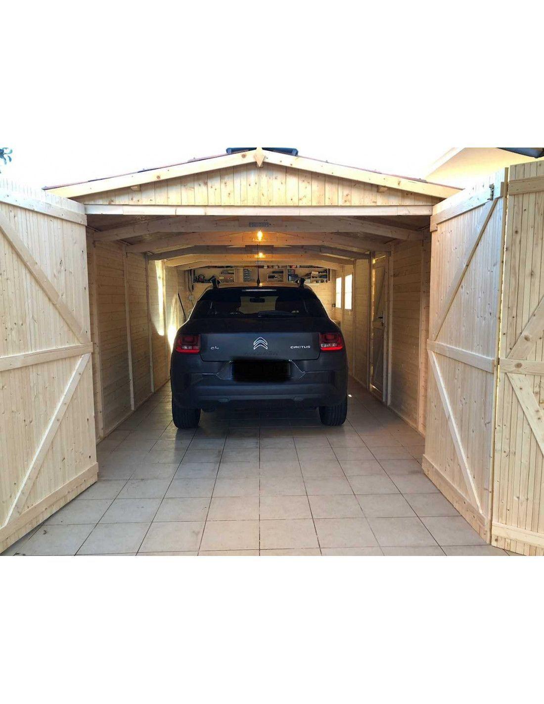 Garaje madera modelo mikhail ii 3x6 m 19mm de espesor - Garajes prefabricados de madera ...