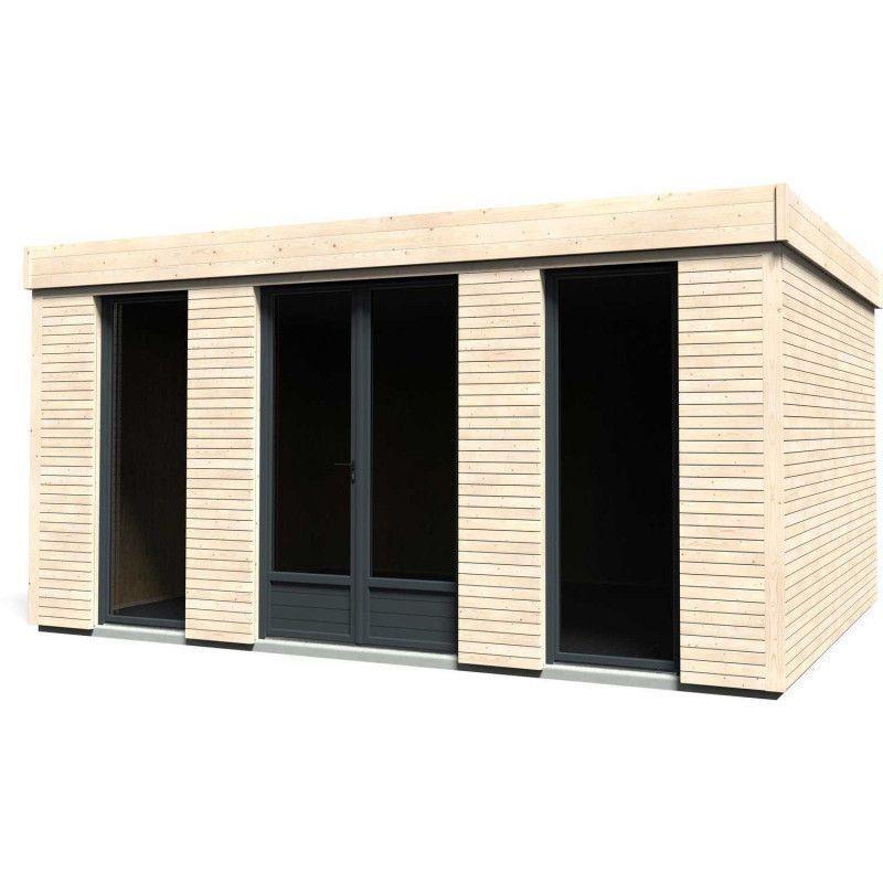 Minicasa  de madera 21 m² con revestimiento termico y acustico