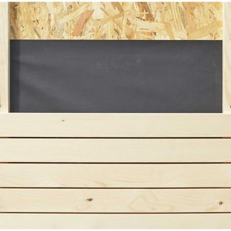Detalle revestimiento interior con paneles OSB y lana de raca