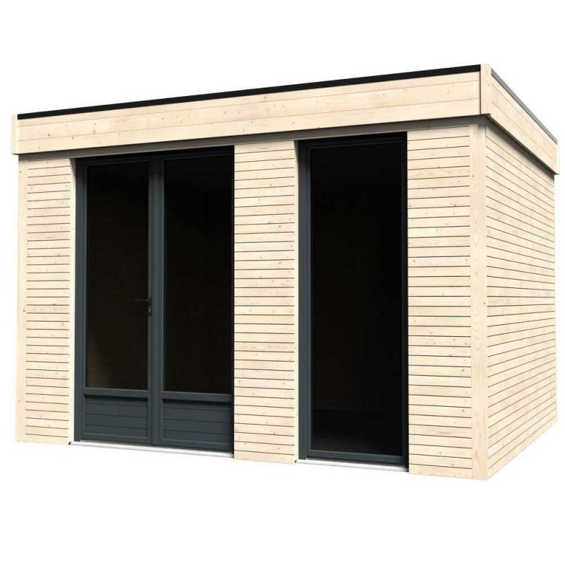 Minicasa de madera 9.81m²