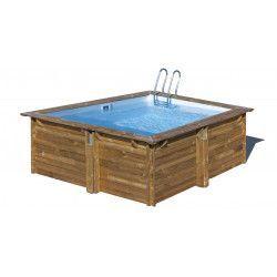 Piscina madera cuadrada 300x300cm