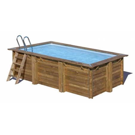 Piscina madera rectangular 4x2,5m