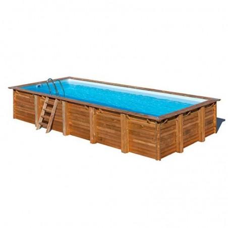 Piscina madera rectangular 918 x 327 cm