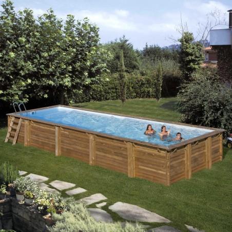 Piscina madera rectangular 10 x 4 m