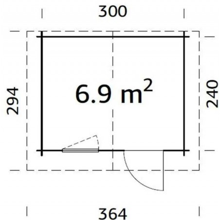 Medidas-Caseta jardin Laura, 28 mm, 320x260 cm, 8,32 m²