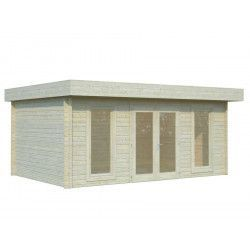 Oferta caseta madera Bret, 44 mm, 550x410 cm 19,9 m²