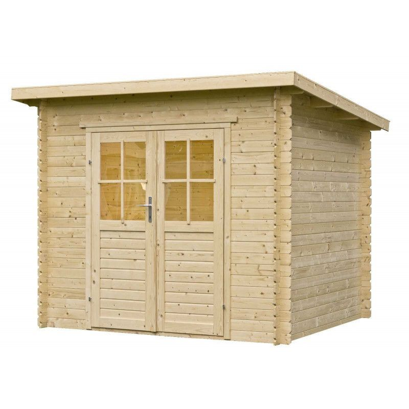 Cobertizo de madera Pavel - Techo plano