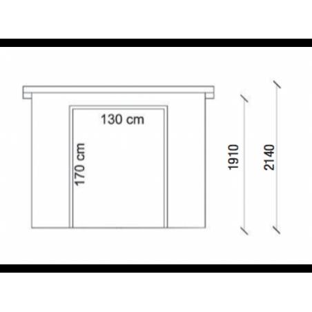 Medidas caseta de madera Pavel