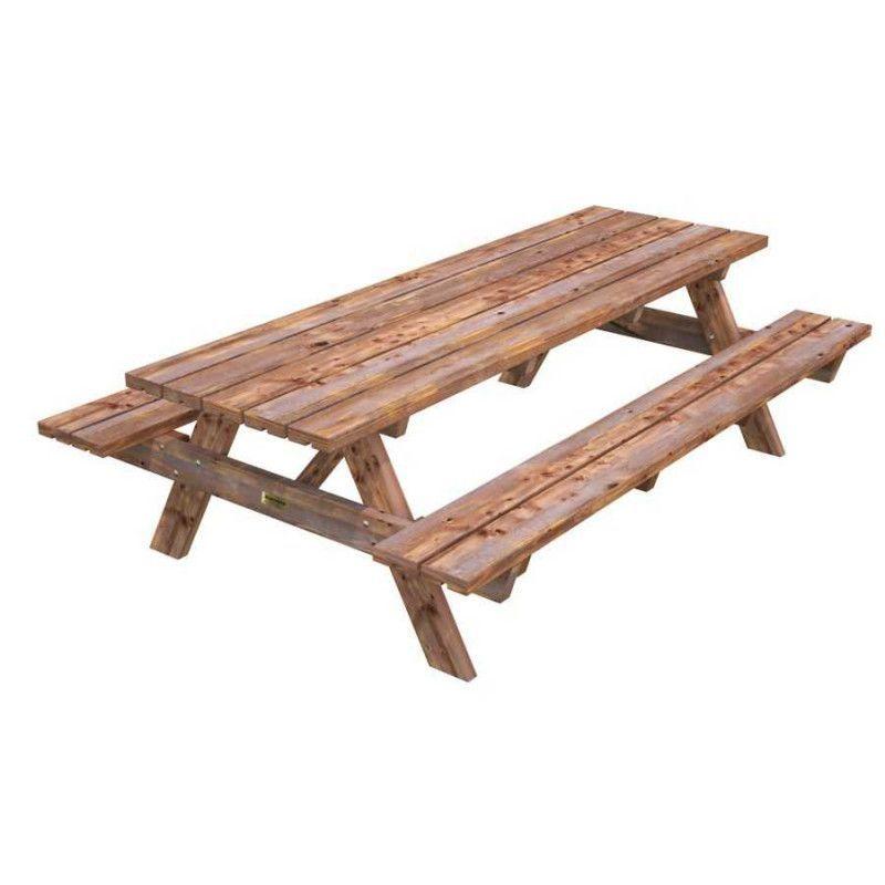 Mesa madera jardin Ruby24. 44 mm, 161 x 239 cm - Marrón
