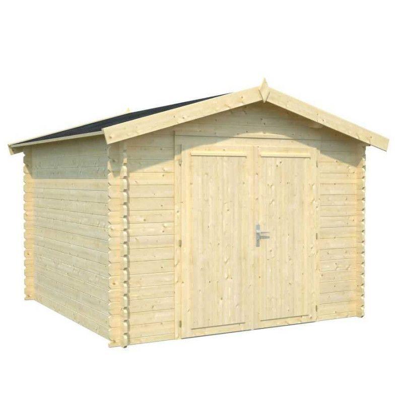 Cobertizo de madera Ralf I Palmako - Doble puerta