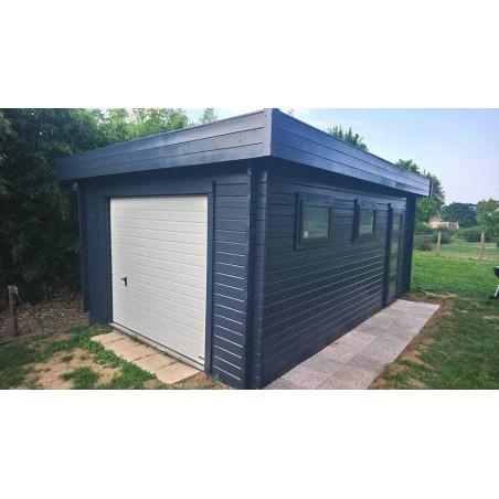 Garaje de madera Novel, con puerta basculante