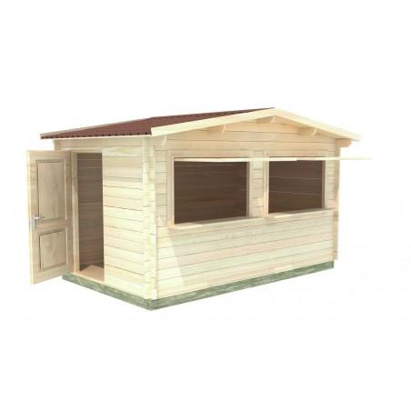 kiosco de madera Calpe, 34mm, 400x250cm. 10m²