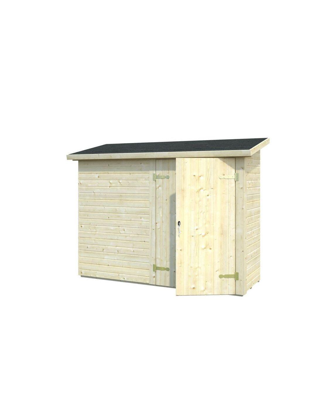 Armarios de exterior en madera mod leif 2 2 m hortum - Casetas de madera de jardin ...