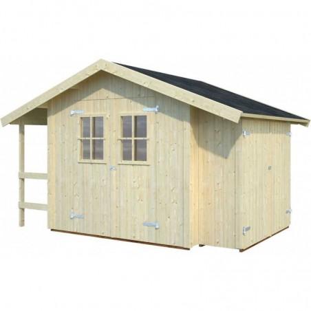 Caseta Marcus con armario lateral y porche