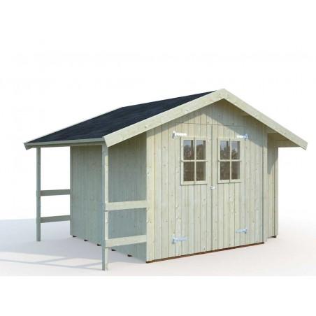 Caseta madera Marcus con armario lateral y porche