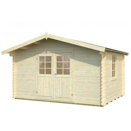 Oferta caseta madera Elbe. 34 mm, 400 x 300 cm, 12 m²