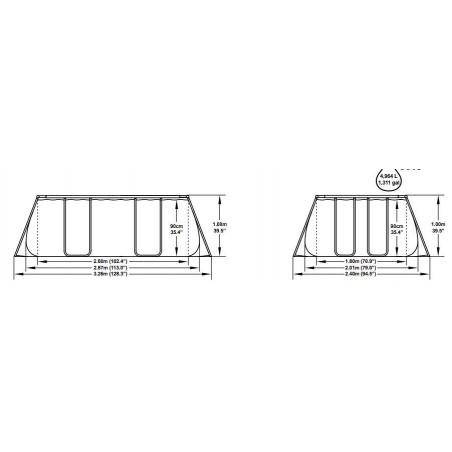 Piscina rectangular 345 X 255 cm