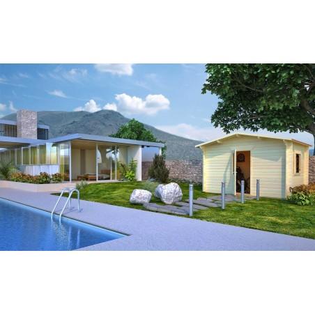Caseta jardin Alicante. 34 mm, 400 x 300 cm, 12 m²