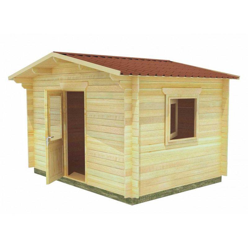 Caseta de madera jardín Alicante. 34 mm, 400 x 300 cm, 12 m²
